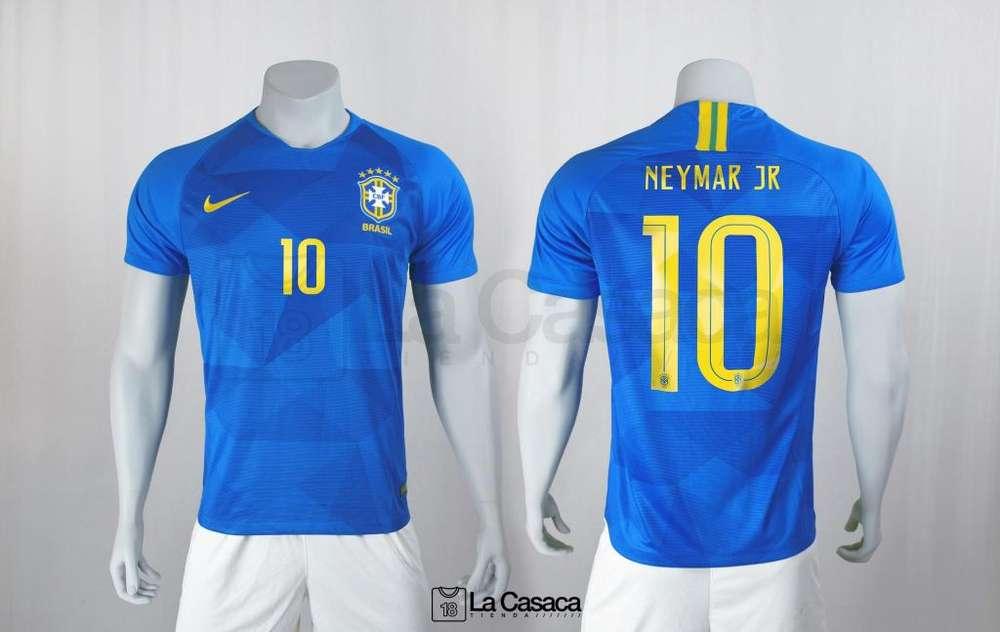 Camiseta original Seleccion Brasil Visitante 2018 Neymar Jr Mundial
