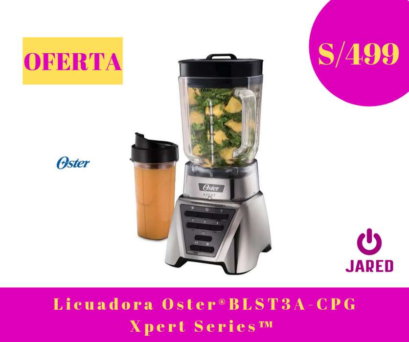 Licuadora Oster Xpert Series Vaso de Vidrio Tomatodo BLST3A-CPG-053