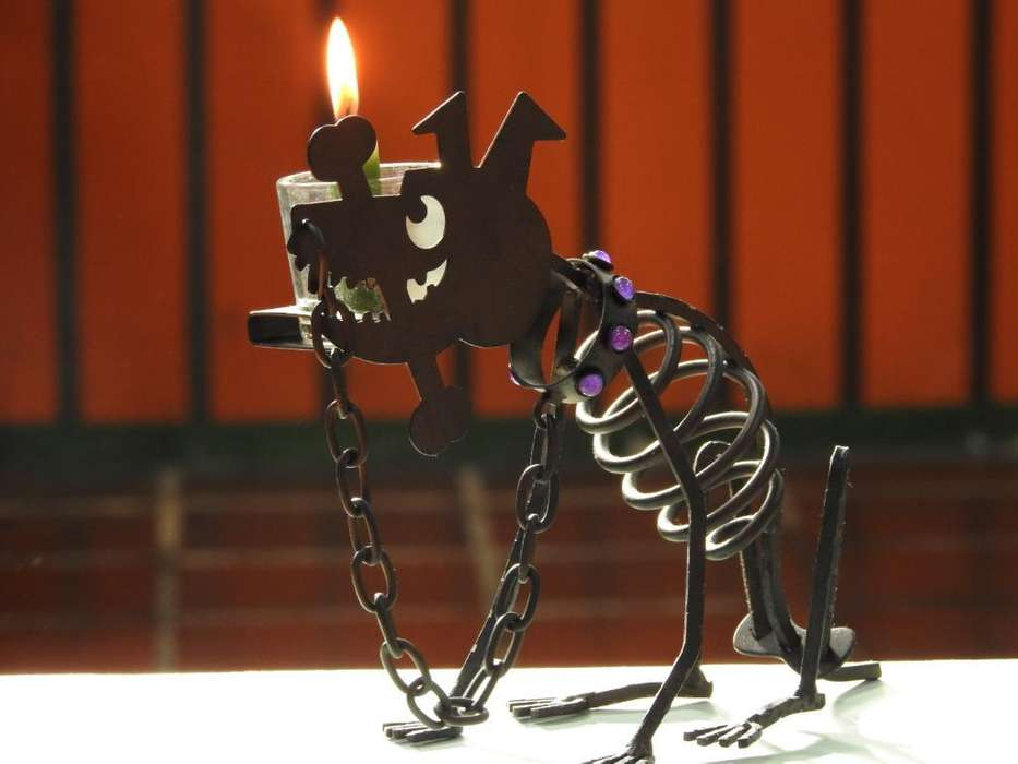 Partylite Sticks Dog Candle Holder