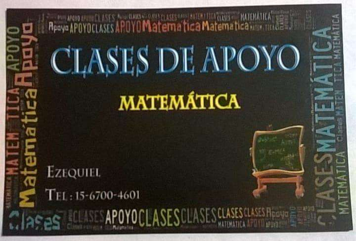 Dictado de Clases Particulares  Matemática