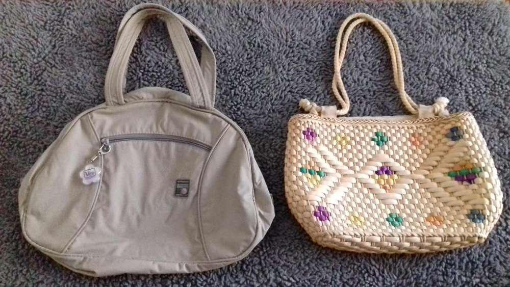 Lote de 2 bolsos para dama. Baratos !!!
