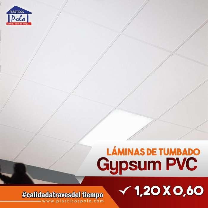 <strong>plancha</strong>s de Tumbado Gypsum Pvc. Excelentes para interiores y decoración