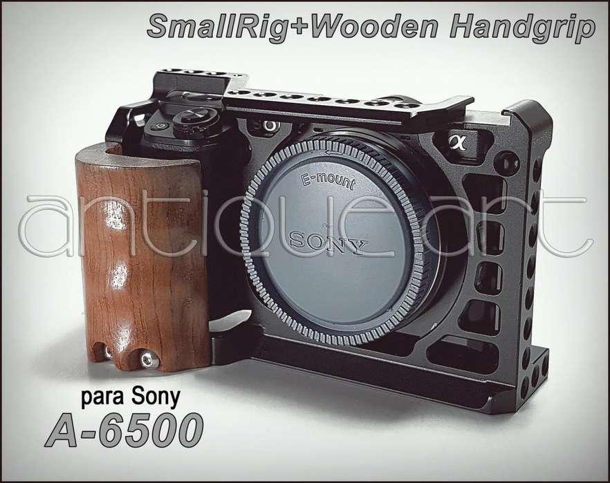 A64 Smallrig Sony A6500 Wooden Handgrip Jaula A6000 A6300