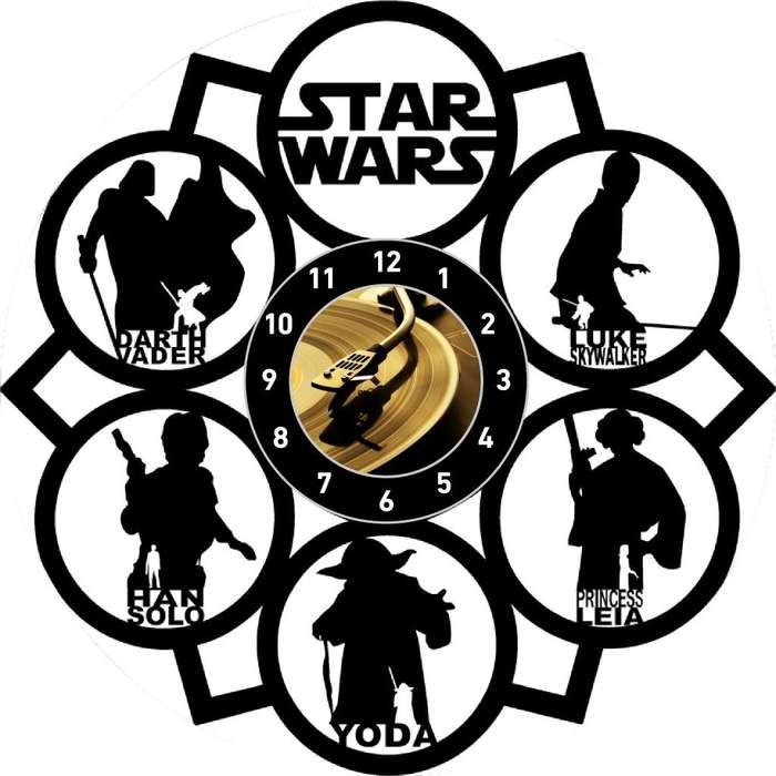 Star Wars Reloj en Disco Acetato