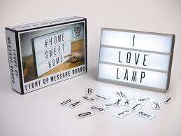 CARTEL LUMINOSO CON LETRAS INTERCAMBIABLES 22CM X 30CM