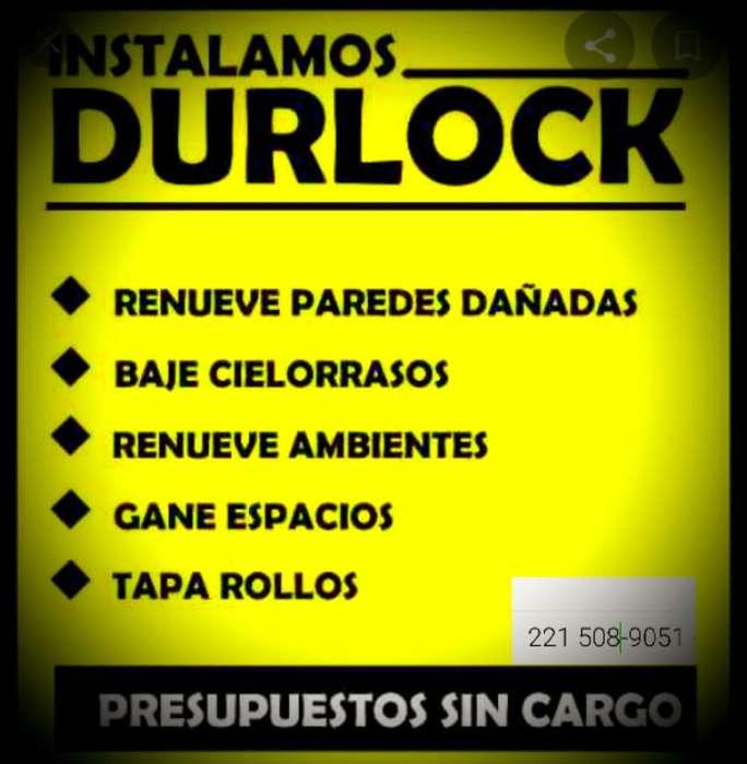 Colococacion de Durlock.presupuesto sin