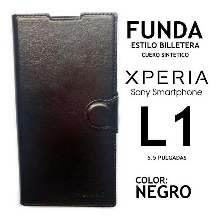 Funda Libro Billetera Cuero Sintético Sony Xperia L1 Rosario
