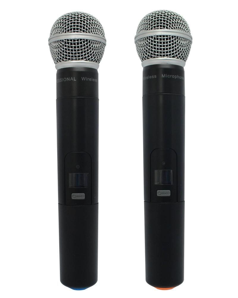 Micrófono Inalambrico Profesional Uhf Doble Gmi Gwm-6852