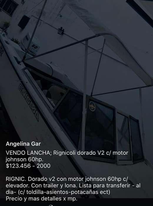 Lancha Rignicoli D. V2 C/ Johnson60Hp