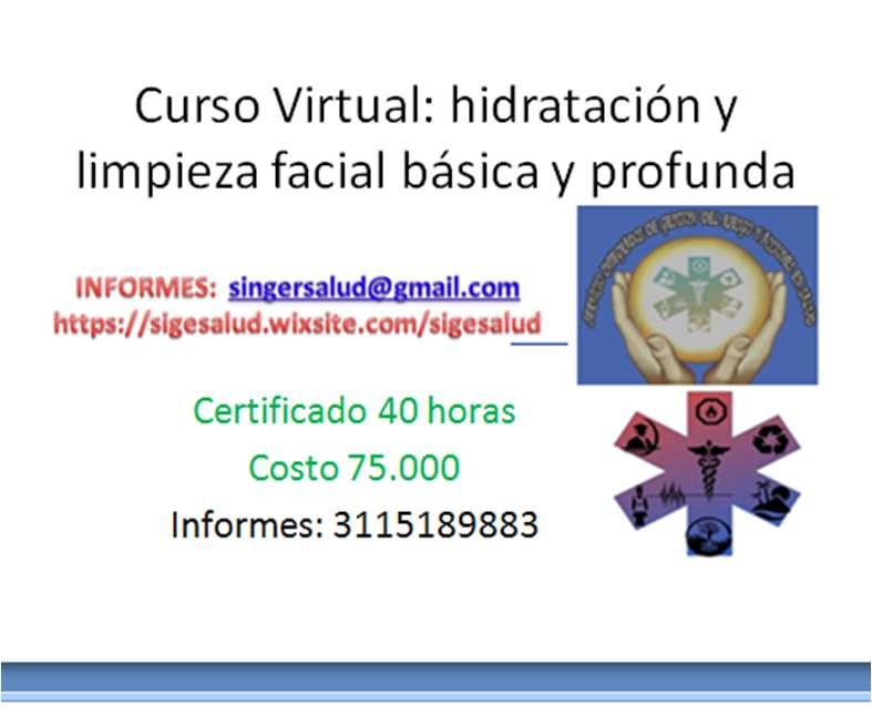 75.000 curso virtual hidratación y limpieza facial básica y profunda