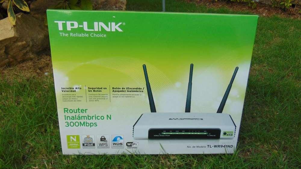Router Inalámbrico TP Link 300Mbps, TRES Antenas. TLWR941ND De Oportunidad