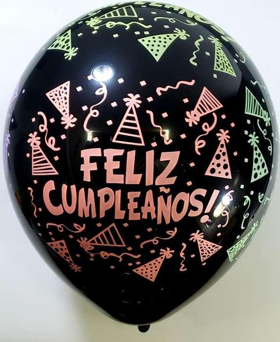 Bomba Feliz Cumpleaños Negra Neon R12