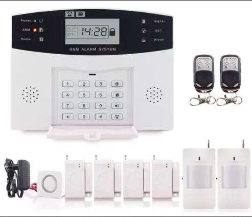 Kit Alarma inalámbrica GSM Sin cables, sin pagos mensuales y muy fácil de instalar