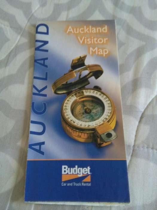 Auckland Visitor Map . Nueva Zelanda Mapa de Auckland . en ingles. desplegable . turismo
