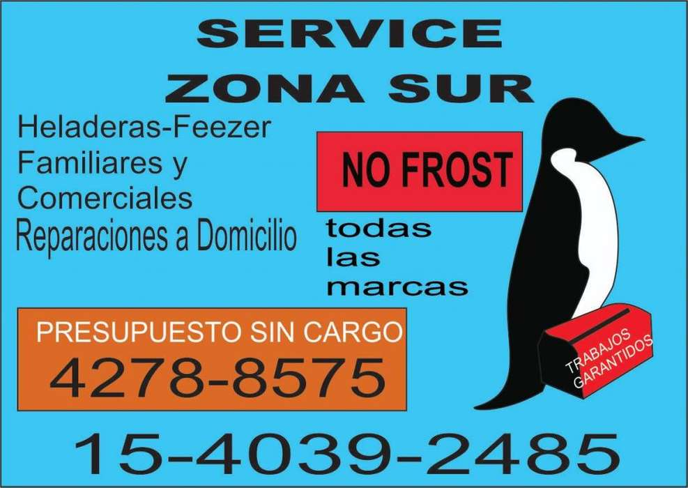 Service de Heladeras, Freezer y No Frost. Todas las marcas