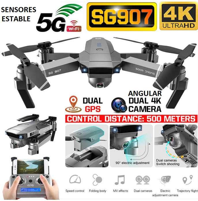 Drone SG907 Camara 4K doble DUAL <strong>gps</strong> sensores plegable sigueme estable 500 metros 18 mnutos