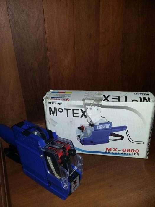 SI FUNCIONA ETIQUETADORA MOTEX MX6600 SIN USAR . COLOR AZUL SI FUNCIONA.