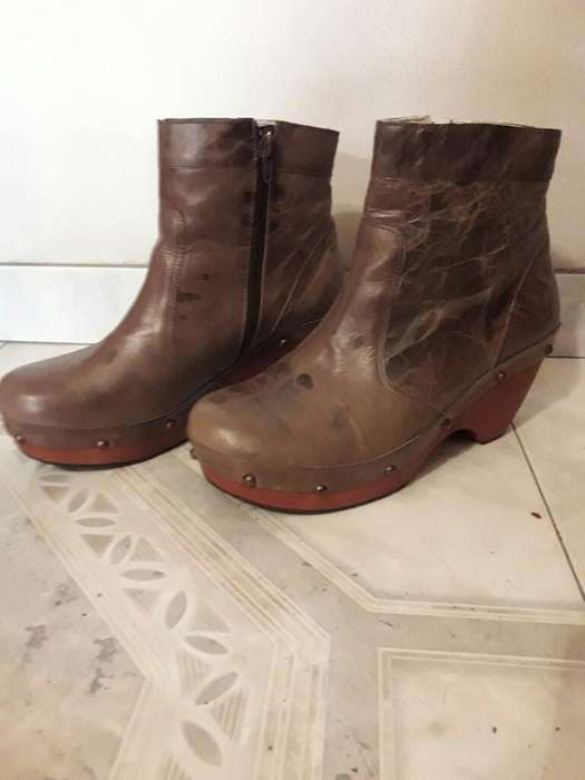Botas Cuero <strong>mujer</strong> N 39