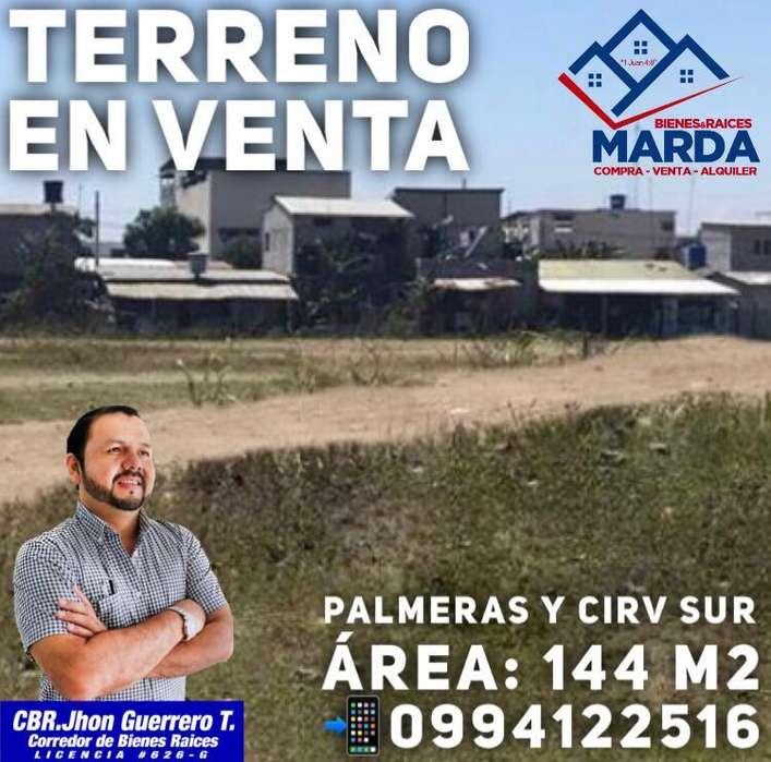 Terreno en Venta Palmeras Y Cirv. Sur