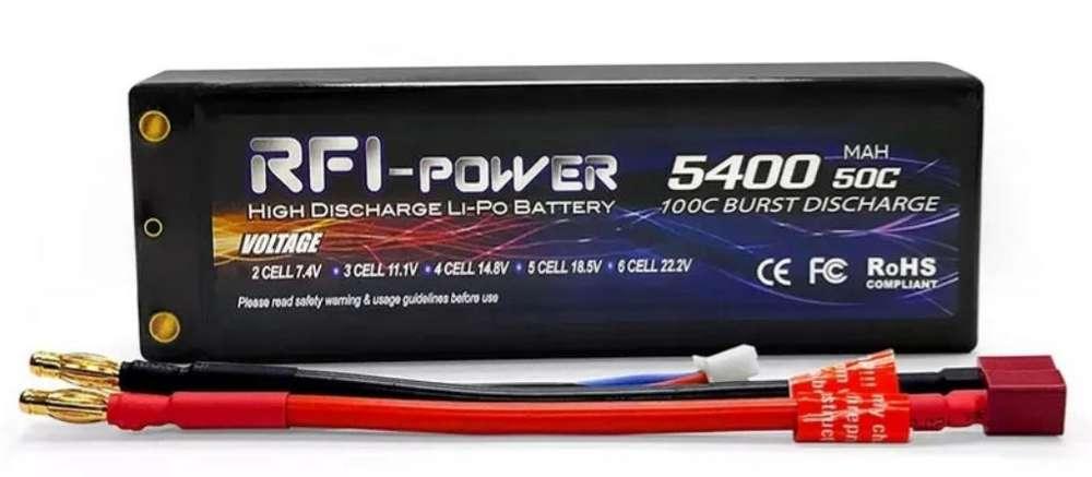 Batería Lipo 7.4v 2s 5400mah Caja Dura.