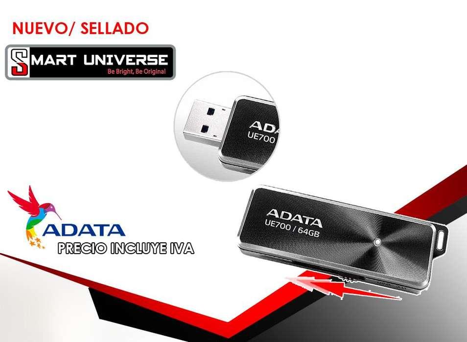 PenDrive Adata 64 Gb Ue700 Elite Black Usb 3.0 Negro
