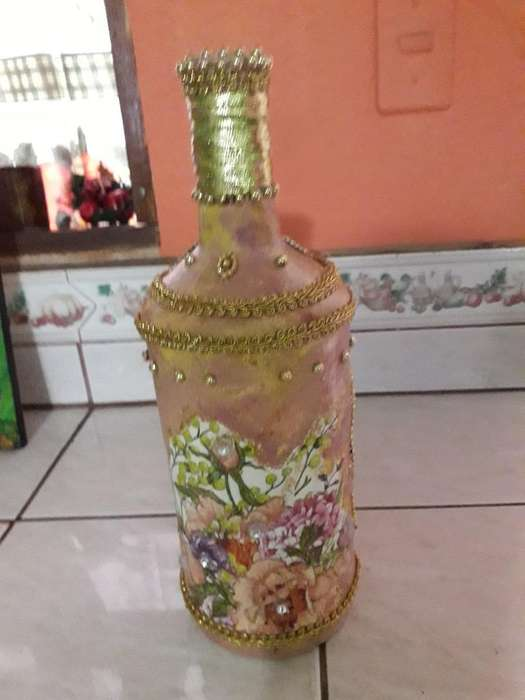 Botella Decorada