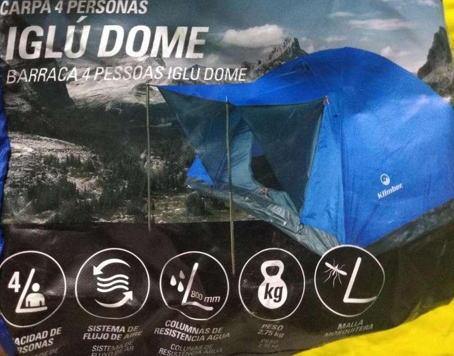 Carpa Camping Klimber Para 4 Personas