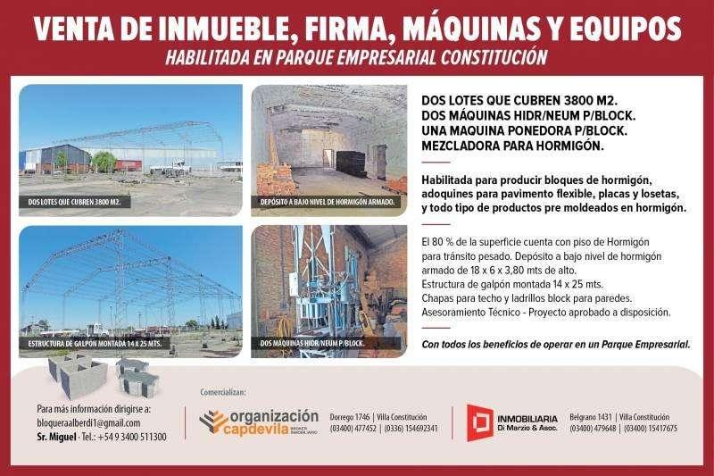 Venta importante fondo de comercio en el Parque Empresarial Constitución.