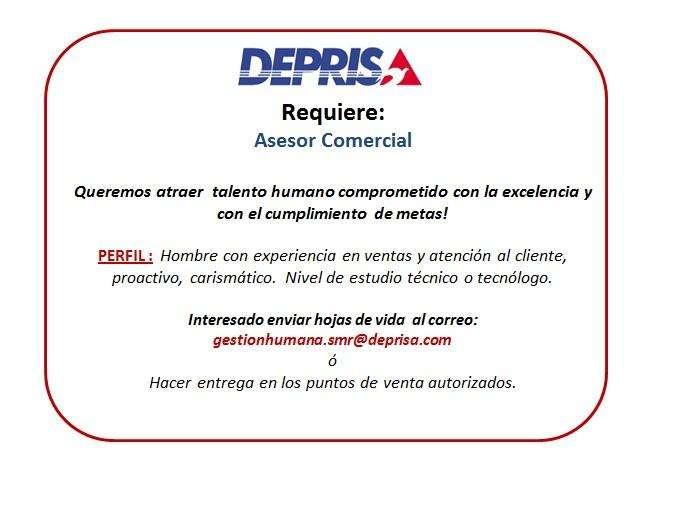 Asesor Comercial Deprisa SMR