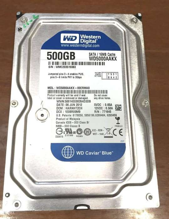 Disco Rigido 500GB
