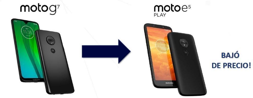 Moto G7 Gratis Moto E 5 Play