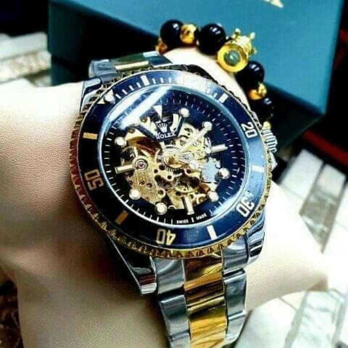 Reloj Automático Bicolor Maquinaria Expu