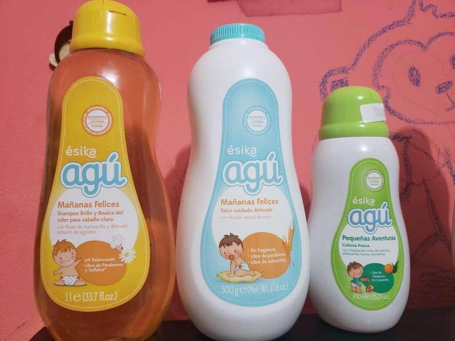 Shampoo Manzanilla, Talco Y Colonia Agú