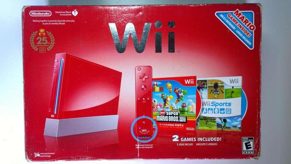 Nintendo wii 25th anniversary edition 4 controles Vendo o Cambio