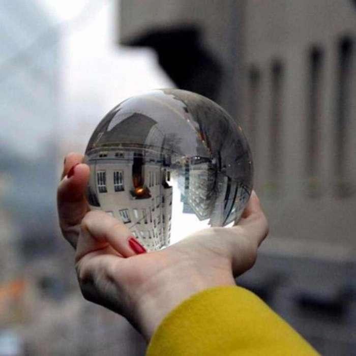 Bola De Cristal Para Fotografía, Crystal Ball, Lensball 6cm y 8cm