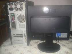 Computadora Pentium Dual Core E2160 C/monitor Lcd 17 Lg Exc.