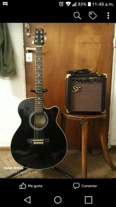 Guitarra Electroacustica Y Amplificador