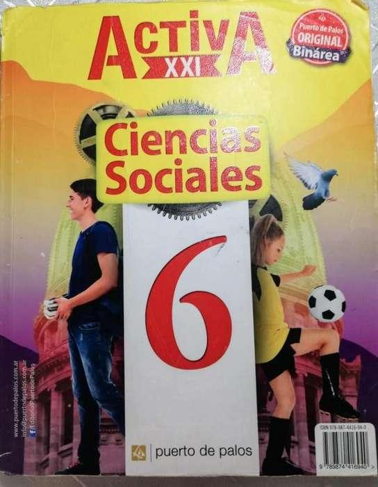 Ciencias Sociales 6 y Ciencias Naturales 6 Edicion Puerto de Palos Usado Rosario