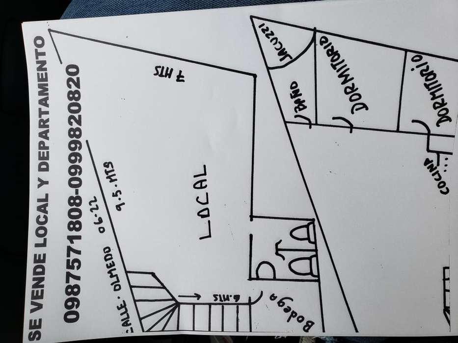 Local comercial y departamento en la calle Olmedo 0622y Montufar