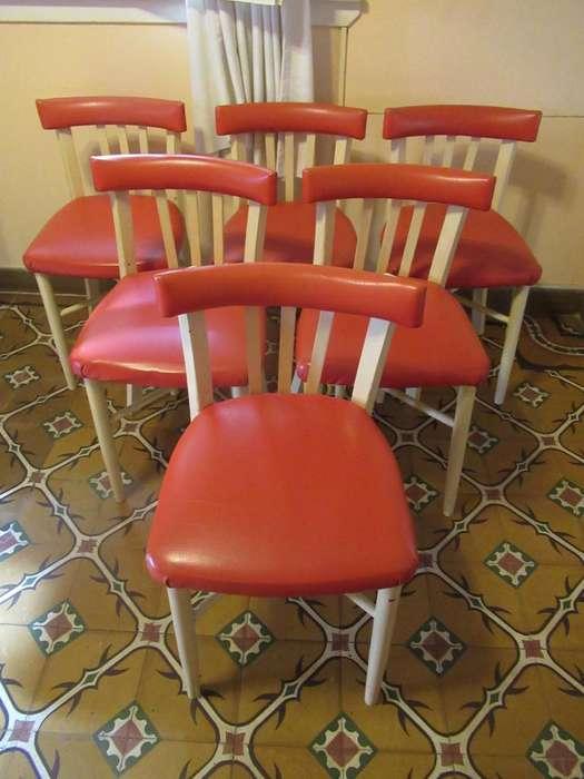 6 sillas Americanas Retro Vintage