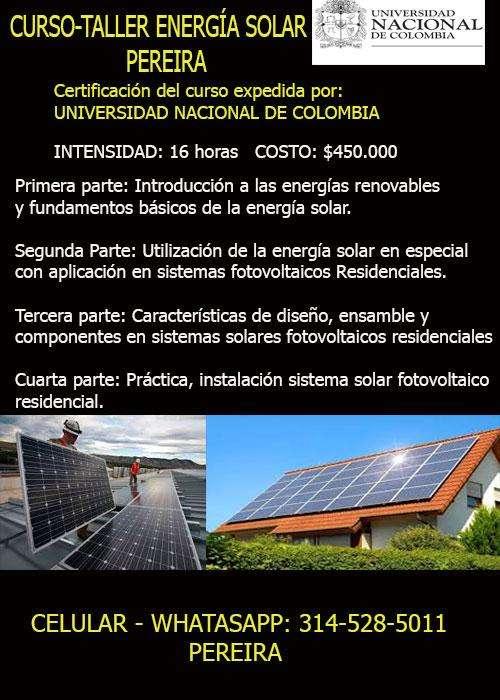 CURSO-TALLER ENERGÍA SOLAR PEREIRA