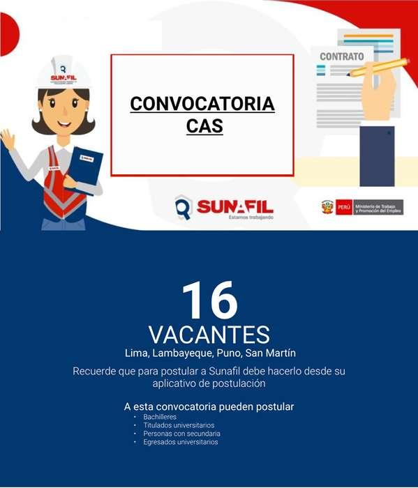 Convocatoria SUNAFIL: 16 vacantes SUNAFIL