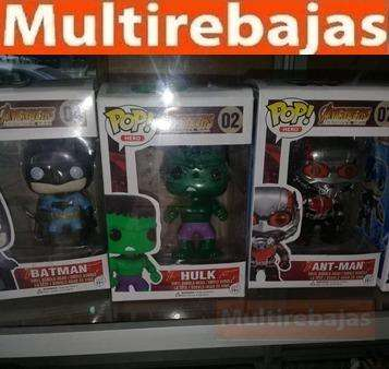 Muñeco Funko Pop Batman, Hulk, Ant Man