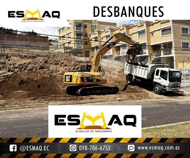 Desbanques, Movimientos de Tierra, Excavaciones, Retiro de Escombros, Desalojo de tierra