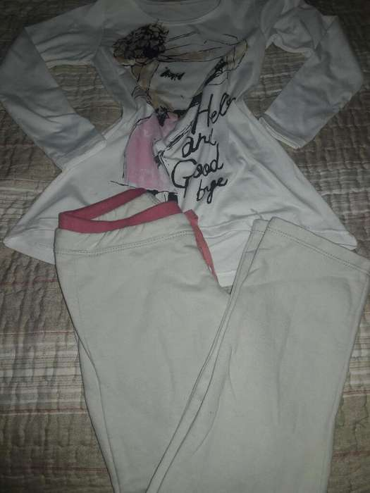 Remera Y Pantalon Super Calentito T.10