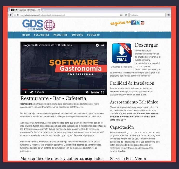 programa Gastronomía GDS Sistemas - software de gestión para restaurante - bar (salón, mesas, mozos, clientes