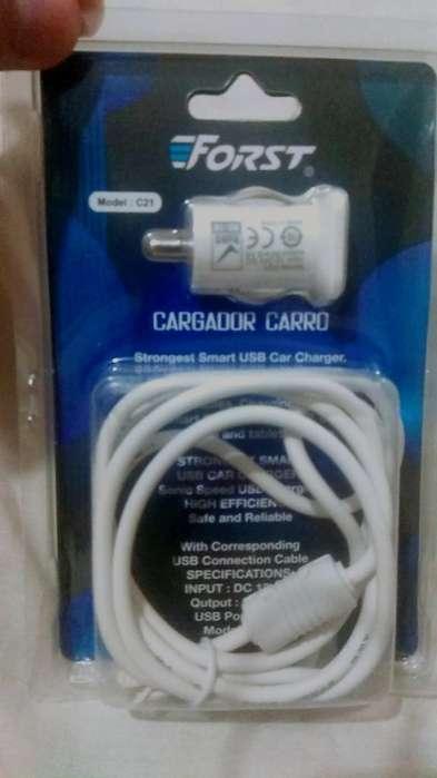 Cargador para Carro, Incluye Cable Usb