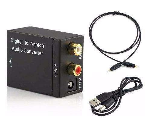 Convertidor Audio Optico Digital a RCA analogo