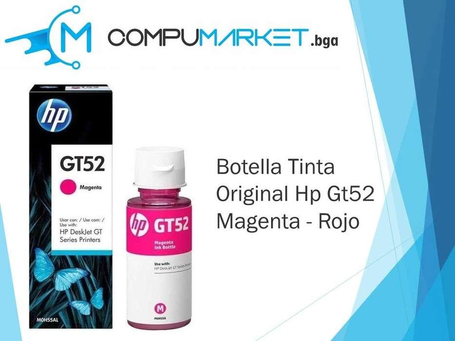 Botella Tinta Original Hp Gt52 Magenta - Rojo Nuevo y facturado