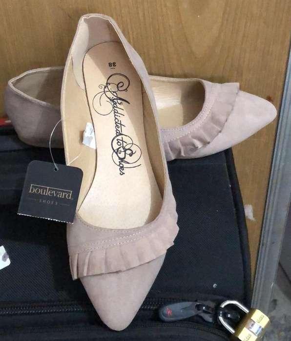 Zapatos Cerrados Tipo Balerina Talla 38